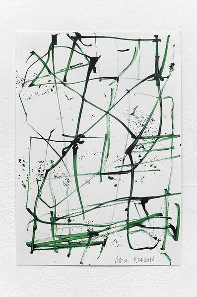 John Beech, 'Green Series Drawings/Basel #2', 2016