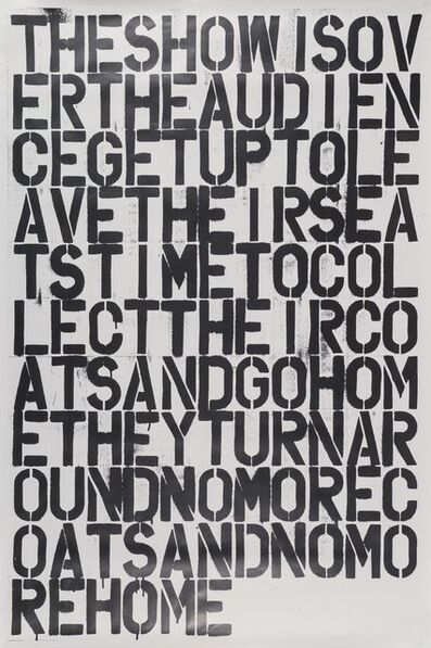 After Felix Gonzalez-Torres and Christopher Wool, 'Untitled, poster'