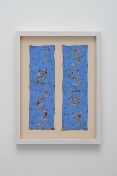 Tatsuo Miyajima, 'Counter Painting on KIMONO SODE-Blue Violet ', 2013
