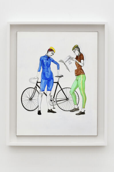 Charles Avery, 'Untitled (Two Cyclists)', 2020