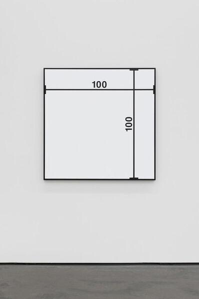 Timm Ulrichs, 'Bild mit Maßlinien', 1964/2014