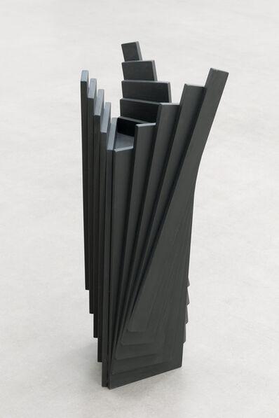 Karl Heinz Adler, 'Ausgefächertes farbiges Holzobjekt', 1996