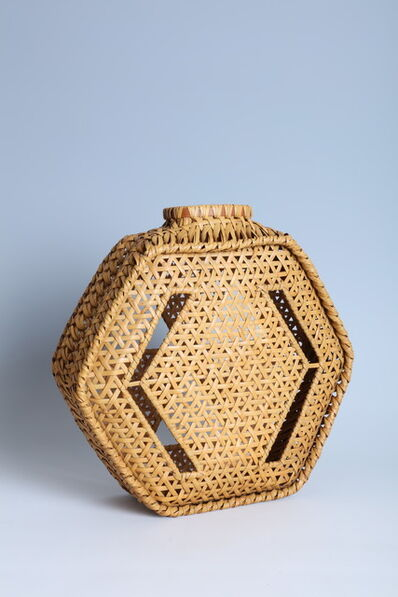 Iizuka Shōkansai, 'Flask-Shaped Hexagonal Flower Basket (T-2299)', ca. 1960