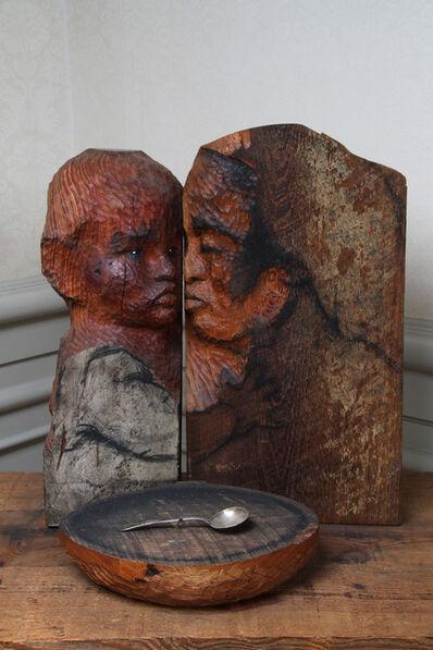 Marisol, 'Madre y niño con cuenco vacío / Mother and child with empty bowl', 1984