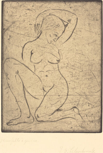 Wilhelm Lehmbruck, 'Kneeling, Small (Kniende, klein)', 1910