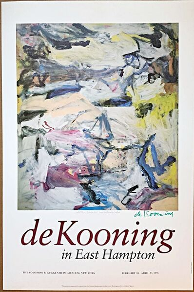 Willem de Kooning, 'de Kooning in East Hampton, from the Estate of Dr. Alan York, Willem de Kooning's eye doctor', 1978