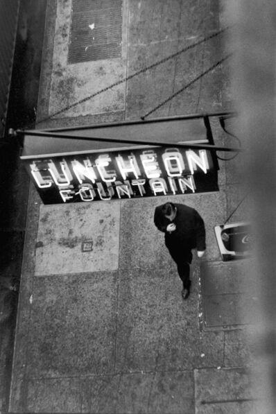 David Vestal, 'Man Walking Under Neon Sign, West 22nd Street, NYC', 1958