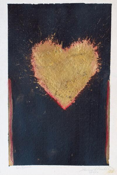 Richard Hambleton, 'LOVE (Gold Heart)', 2004