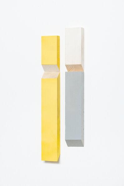 Luis Romero, 'Matches (Blanco/Amarillo/Gris) -Diptych  ', 2019