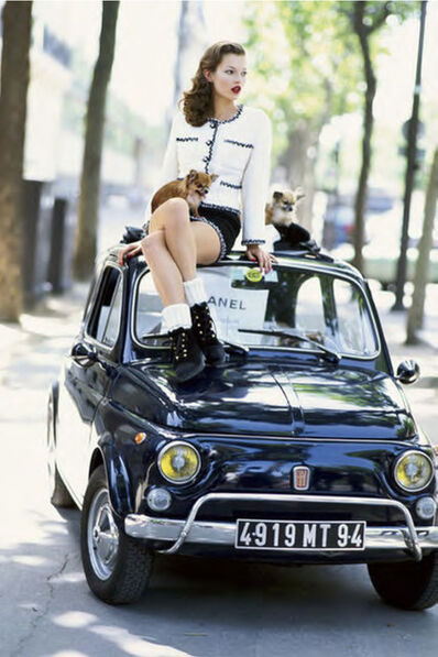 Arthur Elgort, 'Kate Moss and Fiat', 1995