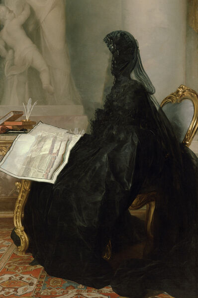 Gerlinde Miesenböck, 'Caput # 14 / 6201, based on KAISERIN MARIA THERESIA (1717–1780) by Anton von Maron, 1773', 2018