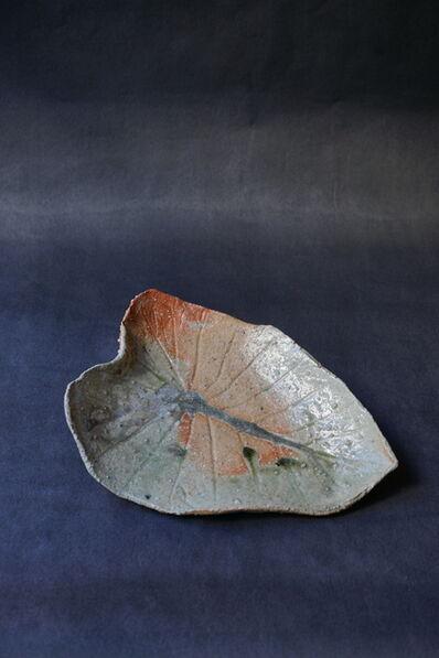 Shiro Tsujimura, 'Leaf Plate (Iga-Style)'