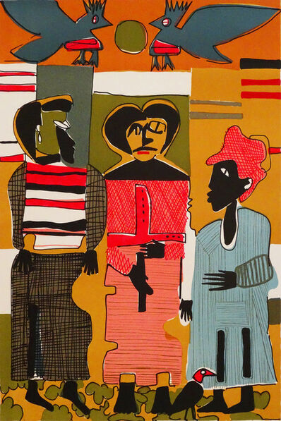 Romare Bearden, 'Firebirds'