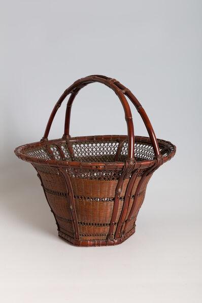 "Iizuka Rōkansai, '""Snowflake"" Handled Flower Basket (T-2306)', Showa era (1926, 1989), ca. 1934"