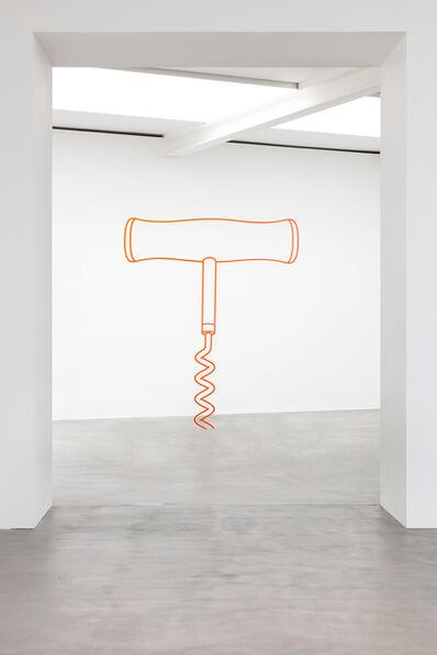 Michael Craig-Martin, 'Corkscrew (orange)', 2019