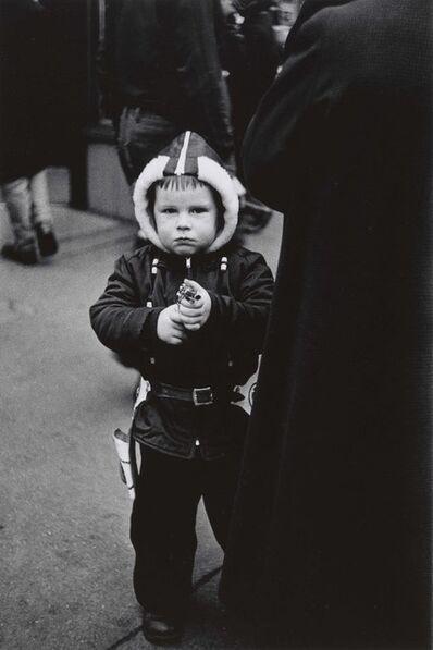 Diane Arbus, 'Kid in a hooded jacket aiming a gun, N.Y.C.', 1957