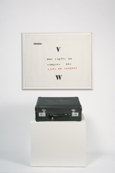 Marcel Broodthaers, 'Valise Vipère', 1974