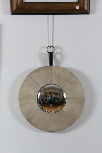 Jacques Adnet, 'Eccentric Mirror Covered with Parchment by Jacque Adnet', 1940-1950