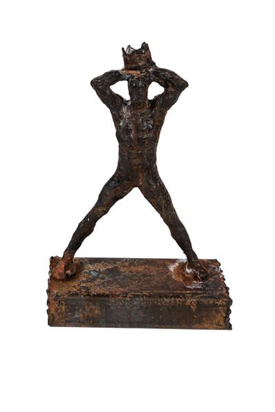 Reminiscent of Basquiat, 'Figurative Metal Sculpture Reminiscent of Basquiat', ca. 1990