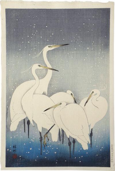 Ohara Koson, 'Group of Egrets', ca. 1927