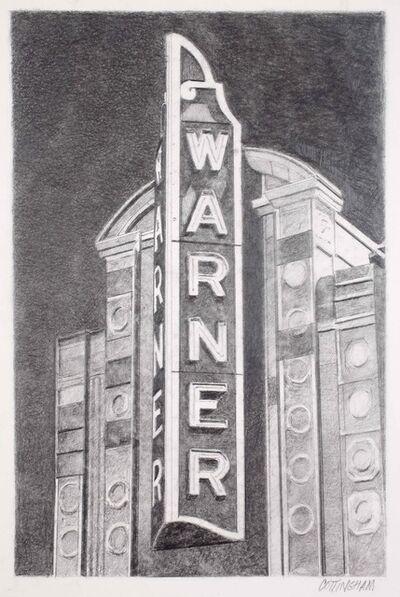 Robert Cottingham, 'Warner Theater (Vertical)', 2017