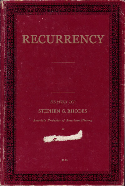 Stephen G. Rhodes, 'Recurrency (Book Cover)', 2006