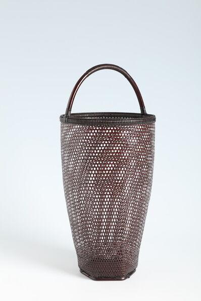 Tanabe Chikuunsai II, 'Cylindrical Basket (T-4275)', Showa era (1912, 1926), 1970s