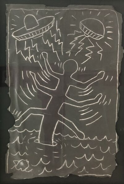 Keith Haring, 'Spaceship Attacks', 1980's-1990s
