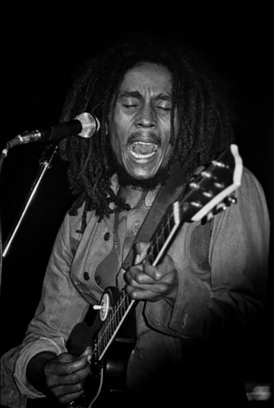 Lynn Goldsmith, 'Bob Marley Singing, 1976', 1976