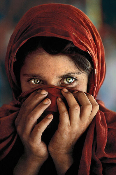 Steve McCurry, 'Afghan Girl with Hands on Face, Peshawar, Pakistan', 1984
