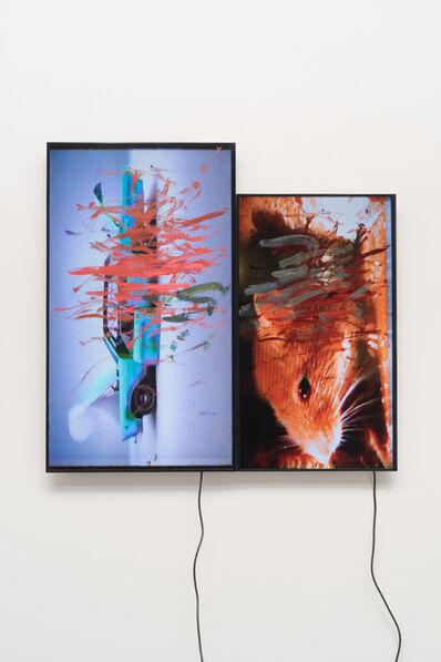 Ken Okiishi, 'gesture/data (feedback)', 2015