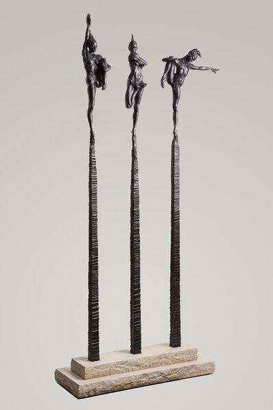 Richard MacDonald, 'Contemporary Nude Spires I-III Column Suite, Blanc Noir', 2012