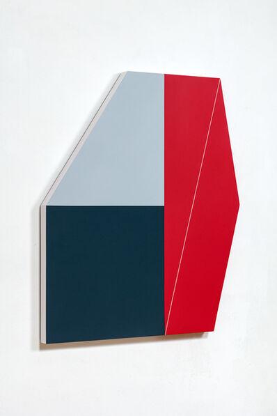Katja PÁL, 'Black cube in a red quadrant', 2018