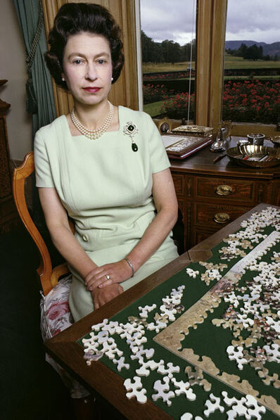 David Montgomery, 'Queen Elizabeth with Puzzle', 1967