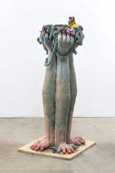 Sharif Farrag, 'Jumble Face Costume (Bird Bath)', 2019