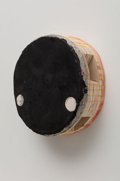Otis Jones, 'Black Circle with Two Raw Canvas Circles', 2020
