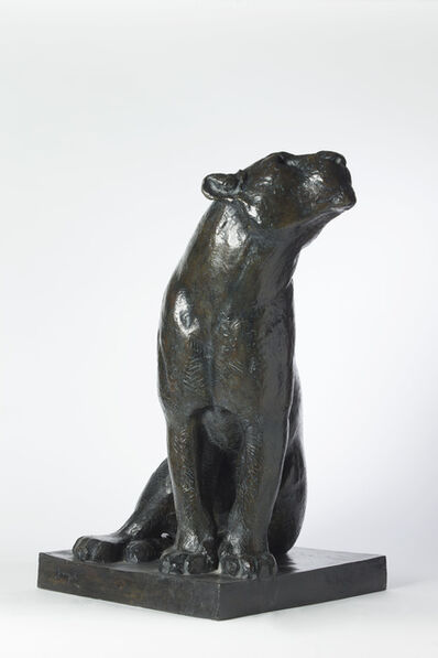 Georges-Lucien Guyot, 'Sitting Lioness Turning Its Head Left '