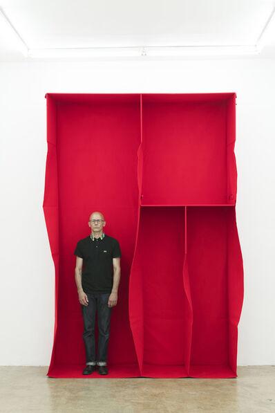 Franz Erhard Walther, 'Kleine rote Architektur (Wall Formation series)', 1982