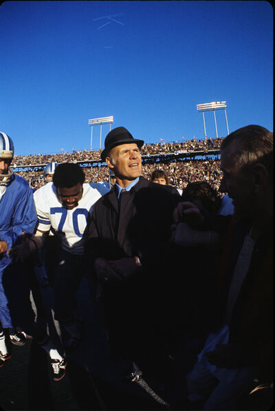 Neil Leifer, 'Tom Landry with Blue Sky, Super Bowl VI, Dallas Cowboys vs. Miami Dolphins, New Orleans, LA', 1972