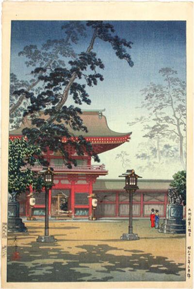 Tsuchiya Koitsu, 'Hakozaki Hachimangu Temple', 1938