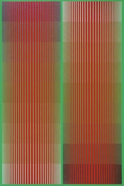 Richard Anuszkiewicz, 'Greening Red Duo (a.k.a. Dual Reds II)', 1984
