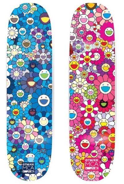 Takashi Murakami, 'Takashi Murakami x Takashi Murakami Flower Skateboard (Blue)', 2017