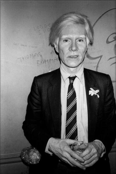 Allan Tannenbaum, 'Andy Warhol at the Mudd Club, NYC', 1979-printed 2018