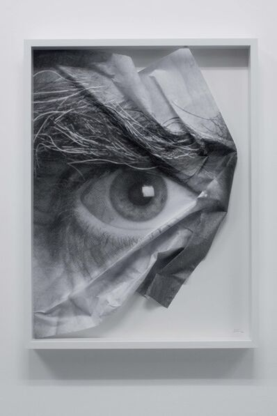 JR, 'The Wrinkles of the City, Los Angeles, Oeil froissé encadré 3', 2011