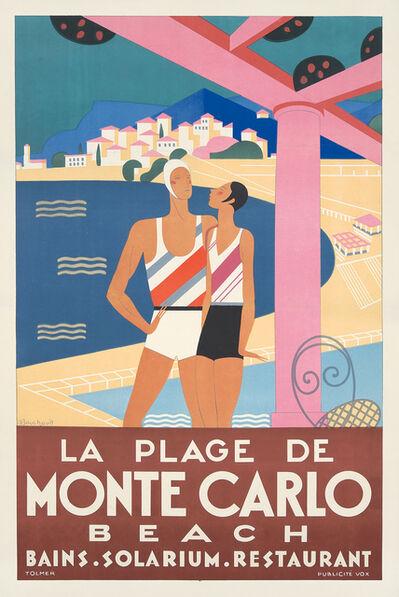 Michel Bouchaud, 'La Plage de Monte Carlo.', 1929