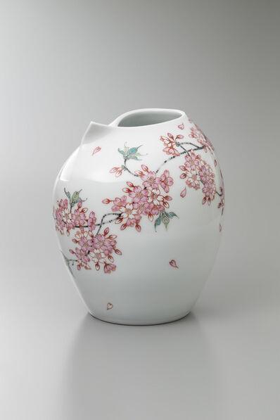 Obata Yuji, 'Yamazakura (Wild Cherry) Blossoms', 2018