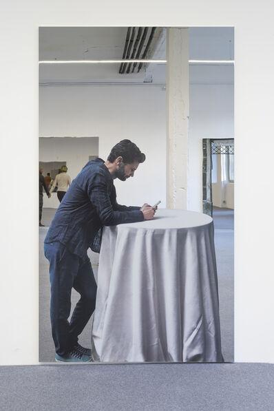 Michelangelo Pistoletto, 'Smartphone - uomo appoggiato', 2018