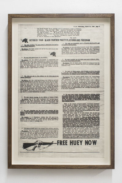Hong-An Truong, 'We want freedom [October 1966 Black Panther Party Platform and Program]', 2018