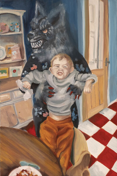 Lindsey Mendick, 'Wolfie Feeding Felix', 2021