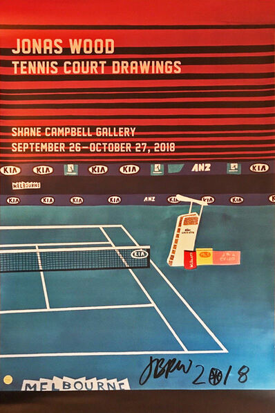 Jonas Wood, 'Tennis Court Drawings', 2018